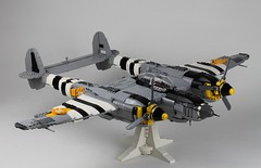 Lockheed P-38 by Peter Blackert (Lasse Deleuran) Tags: lego review airplane p38