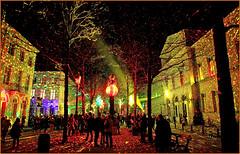 """SNOW GLOW – Spectaculaires (FR), Hospice Pachéco de la rue de l'Infirmerie, Festival de lumières """"Bright Brussels"""", Bruxelles, Belgium (claude lina) Tags: claudelina belgium belgique belgië bruxelles brussels festivaldelumières brightbrussels snowglow spectaculaires lumières lights"""