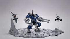 T'au Battlesuit (Faber Mandragore) Tags: lego moc wh40k warhammer 40k sci fi science fiction tau mech monday battlesuit robot drone faber mandragore fabermandragore