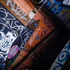 Street art abstract - Hackney (Paul Perton) Tags: hackney london abstract graffiti reflection square street streetart streetphotography urban