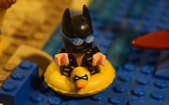Batman (LegoLyman) Tags: surfer bricksburg lego legolyman water wave beach lake river dolphin minifig batman