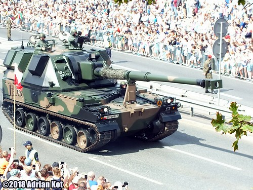 155 mm AHS Krab self-propelled artillery
