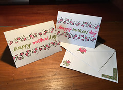 Mothers' day cards 2019 (What I saw...) Tags: homemade card craft handmade papercraft stamping handlettering lettering mothers day