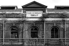 Atelier de construction (Lo.Re.79) Tags: bw belgium abandoned column decay exploration factory forgotten industry nature pillar rotten rottenplaces steel urban urbex