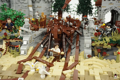Lond Daer - Preparing for the next ship launch (Barthezz Brick) Tags: lego lond daer middle middleearth medieval fantasy moc afol barthezz barthezzbrick brick custom lotr lord rings lordoftherings shipyard pub castle wall city