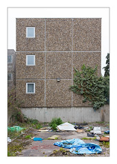 The Built Environment, South East London, England (Joseph O'Malley64) Tags: thebuiltenvironment newtopography newtopographics manmadeenvironment manmadestructures buildings structures abandoned abandonedbuildings abandonedhousingestate derelict dereliction councilestate housingestate housing homes dwellings abodes southeastlondon london england uk britain british greatbritain prefabricatedconcretepanels steelreinforcedconcretestructures reinforcedconcretestructures concretestructures concrete pebbledashing pebbles flints flats blocksofflats doubleglazing upvcdoubleglazing windows doubleglazedwindows lamp lighting brokenlamp ivy creeper overgrowth overgrown buddleia weeds dumping detritus rubbish litter flytipping tarmac netcurtains urban urbanlandscape urbanarchitecture architecture architecturalphotography documentaryphotography socialdocumentary britishdocumentaryphotography demolition awaitingdemolition fujix fujix100t accuracyprecision