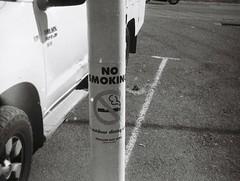 No Smoking (Matthew Paul Argall) Tags: ansco50 fixedfocus 110 110film subminiaturefilm lomographyfilm 100isofilm blackandwhite blackandwhitefilm nosmoking grainyfilm 2019 2010s