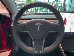 2019 Tesla Model 3 (Harold Brown) Tags: 2019 automobile car dashboard duvalcounty florida indoor interior jax jacksonville model3 red stjohnstowncenter steeringwheel tesla transportation usa vehicle bhagavideocom fl haroldbrowncom harolddashbrowncom iphonexsmax photosbhagavideocom haroldbrown