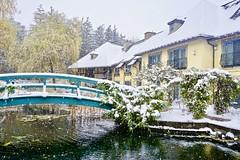 Snowy day in the Monet garden - Finger Lakes (bee.pics) Tags: finger lakes fingerlakes new york winter snow november vista garden jardin monet inspiration nature photography naturelover naturephoto usa ny resort photo pic pics beautiful dreamy light color scenery landscape scene