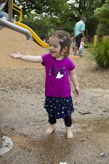 water delight (louisa_catlover) Tags: portrait family child toddler daughter tabitha tabby park playground outdoor water wet