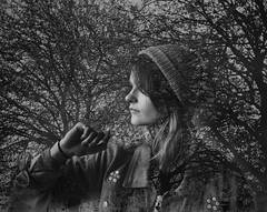 Lauren Is The Trees (pigpogm) Tags: mxpp photography affinityphoto blackandwhite lauren model monochrome portrait tree woman