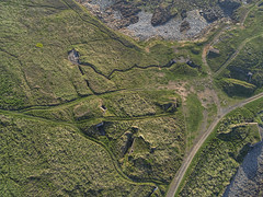 Fort Albert hillside (Ningaloo.) Tags: aerial alderney paths