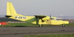 Britten-Norman BN-2B-20 Islander G-CKYC Lee on Solent Airfield 2019 (SupaSmokey) Tags: 2019 brittennorman bn2b20 islander gckyc lee solent airfield