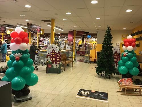 Ballonpilaar Kerstboom Jumbo Groenewoud Spijkenisse
