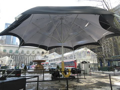 2019 Big Umbrella Academy in Bryant Park NYC 1317 (Brechtbug) Tags: big umbrella bryant park nyc 2019 february 02132019 new york city 6th avenue near 42nd st behind public library midtown manhattan the academy netflix tv series comic book based starting friday 15th bumbershoot umbrellas