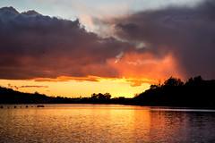 Bonelli Regional Park sunset, 2-18-19 (BDFri2012) Tags: sunset bonellipark bonelli reflections reflection clouds lake puddingstonelake puddingstone losangelescounty southerncalifornia california ca southwestunitedstates americansouthwest birds