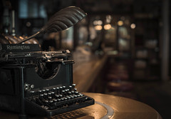 Just type (V Photography and Art) Tags: vintage antique typewriter bar bermondsey london lowlight bokeh fujixt2 light shadow remington