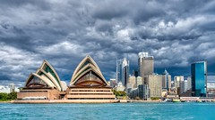 Sydney View (Trey Ratcliff) Tags: treyratcliff stuckincustoms stuckincustomscom sydney harbor harbour opera house architecture cityscape city scape water clouds hdr hdrtutorial hdrphotography hdrphoto aurorahdr australia