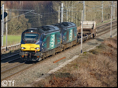 Direct Rail Services - 68002+68004 (Tf91) Tags: rail railway freight loco locomotive drs direct services class68 68002 68004 6k73 sellafield nuclear crewe moore