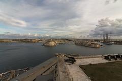 Views from Upper Barrakka Gardens (Crisp-13) Tags: valletta malta sea coastline coast upper barrakka gardens