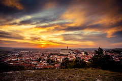 Colorful autumn Sunset over the Mikulov city, Moravia, Czech Rep (PhotoVision by Pavel Rezac) Tags: agriculture architecture autumn beautiful bottle building castle chapel church city country cultivation cultural czech destination europe european farm fortress garden hill historic historical history landmark landscape medieval moravia old outdoor panorama red rock romantic roof south summer sunny sunset tourism touristic tower town travel unesco view vineyard viniculture white wine