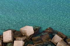 Blue water,stones cubes... (Zé Eduardo...) Tags: otranto puglia italy italia eu europe water ocean blue colors stones cubes mediterranean