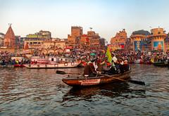 Varanasi, India (Ninara) Tags: varanasi india uttarpradesh ghat ganges ganga gangaaarti sadhu nagasadhu sunrise morning bathing holycity dashashwamedhghat dashashwamedh kashi benares