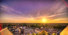 Sunset over Alkmaar. (Alex-de-Haas) Tags: oogvoornoordholland 11mm adobe adobelightroom alkmaar aurorahdr aurorahdr2019 blackstone d850 dutch europa europe european hdr holland irix irix11mm irixblackstone lightroom nederland nederlands netherlands nikon nikond850 noordholland skylum westfrisia westfriesland westfries architecture architectuur building buildings center centrum cirrus city cityscape gebouw gebouwen innercity sky skyscape stad straat street summer sunset town urban zomer zonsondergang