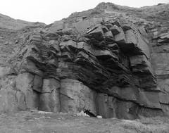 Cliffs,Collieston_Mar 19_532 (Alan Longmuir.) Tags: monochrome grampian aberdeenshire collieston cliffs