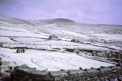 Snow joke (IR) (Sean Hartwell Photography) Tags: infrared ir sleahead dingle kerry countykerry ireland field wall mountains countryside