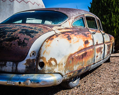 Rust Bucket Car (Brad Prudhon) Tags: 2018 arizona automobile bridges holbrook october oldcar oldroute66 rusty wigwamhotel wigwamvillage