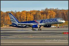 N176CA National Airlines (Bob Garrard) Tags: n176ca national airlines boeing 757 tire smoke anc panc