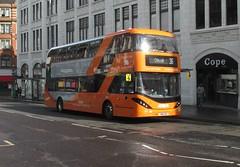 445, Nottingham, 25/04/18 (aecregent) Tags: nottingham 250418 nct nottinghamcitytransport scania n280ud gasbus enviro400city 445 yn18sxd 36 orangeline