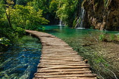 Passage-into-nature-at-Plitvice-National-Park.jpg (yobelprize) Tags: plitvicelakes plitvicelakesnationalpark natural calm nature water yobelmuchang lake vivid inspirational yobel trees pathway national travel waterfall turquoise green planks lush outdoors environment bridge forest river beautyinnature wood path tranquil tranquility landscape serene wooden park lakes stream ripples outdoor croatia leaf plant woodenfloor clear tranquillake passageway idyllic scenery beautiful waterfalls hiking summer inspire transparent plitvice europe tree walk