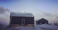IMG_5212 (jessalynn_sammons) Tags: bankbarn oldbarn iphone sky moon evening cold winter barn