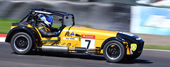 Caterham Dash! (captures.in.time) Tags: caterham motor motorsports fast slow motorsportsphotography scottishmotorsport knockhill carracing racing driver panning scotland fife moving movement canon canonphotography road grass bike car sport tarmac yellow