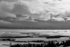 "Les Préalpes prisent en ""sandwich""! (Lawrencexx79) Tags: landscape fog brouillard alpes alps mountains montagnes valderuz monochrome black white noir et blanc bnw bw switzerland clouds nuages"