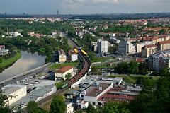 ČDC 123 029-1 - Pn 52684 in PRAHA (Rostam Novák) Tags: train locomotive engine praha prague czechrepublic uhelka 123 123029 1230291 pn52684 podbaba view city urban