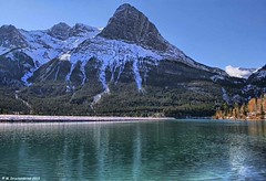 Ha Ling Peak overlooking Canmore's Grassi Lakes, Alberta Canada (PhotosToArtByMike) Tags: halingpeak grassilakes canmore albertacanada alberta bowvalley canadiancity southerncanadianrockymountains canmorenordiccentreprovincialpark town city rockymountains provinceofalberta bowriver