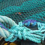 Au port, cordages et filets, Ullapool, Ross and Cromarty, Ecosse, Grande-Bretagne, Royaume-Uni. thumbnail
