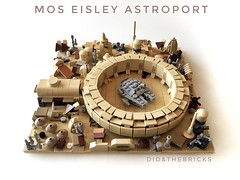 Mos Eisley Astroport (did b) Tags: starwars lego legomoc moc milleniumfalcon falcon diorama micro tatouine creation sculpture design photo