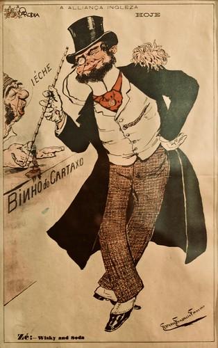 VERSÃO DO BREXIT NO FINAL DO SÉCULO XIX  EM PORTUGAL//A ALIANÇA INGLESA  [The English Alliance] (undated) - Rafael Bordalo Pinheiro (1846 - 1905)
