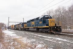 CSX 8801 @ Langhorne, PA (Dan A. Davis) Tags: train pa pennsylvania langhorne railroad locomotive csx sd402 gp382 gp402 c770 freighttrain