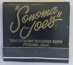 SONOMA JOE'S PETALUMA CALIF (ussiwojima) Tags: sonomajoes restaurant bar cocktail lounge petaluma california advertising matchbook matchcover