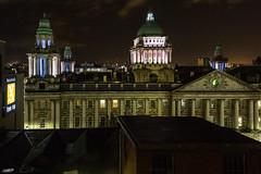 Belfast City Hall at Night (string_bass_dave) Tags: lights night donegallsquare belfastcityhall northernireland belfast flickr unitedkingdom gb