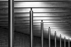 """""""Illuminated"""" Coloumns (Leipzig_trifft_Wien) Tags: leipzig sachsen deutschland de architecture light shadow reflection black white grea flickr line horizontal underground urban city"""