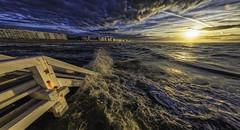 Nieuwpoort-Bad Zonsondergang (glessew) Tags: nieuwpoortbad zonsondergang sunset sonnenuntergang sea mer meer zee strand beach plage kust küste coast vlaanderen westvlaanderen belgië belgique