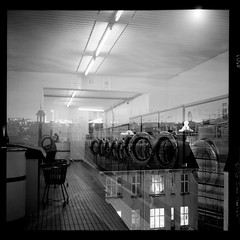 (To Whom This May Concern) Tags: laundromat multipleexposure doubleexposure 120mm ilford ilfordhp5 streetphotography urbanphotography rolleiflex 6x6 mediumformat mediumformatfilm filmphotography analog monochrome blackandwhite blackandwhitephotography