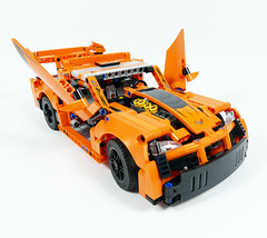 "Racing Pickup - LEGO Technic 42093 C Model (""grohl"") Tags: lego technic chevrolet corvette zr1 car supercar race racing chevy muscle v8 alternate c model grohl666 fast pickup ute feature function"