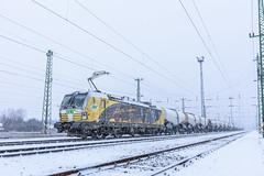 SETG 193 218, Hegyeshalom (Paha Bálint) Tags: setg193 setg siemensvectron vectron br193 freighttrain train güterzug snow